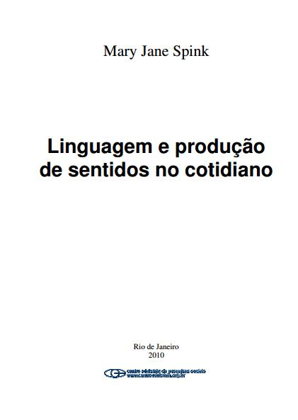 Linguagem e produção de sentidos
