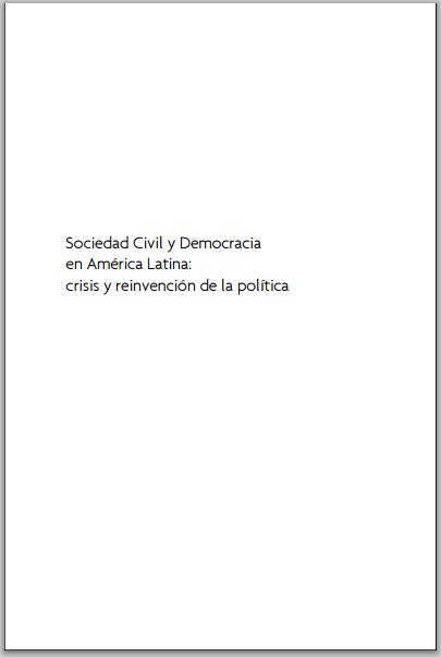 Sociedad civil y democracia en América Latina