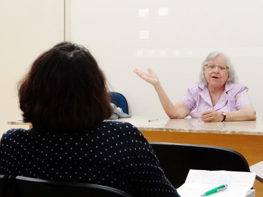 Apresentação da antropóloga Luitgarde Cavalcanti na Oficina Metodológica de Folkcomunicação.