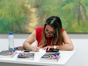 Lançamento do livro na Folkcom 2015, em Cuiabá-MT.